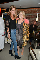 Left to right, MILLIE MACKINTOSH and BRIX SMITH START at the launch of Broadgate Circle, City of London on 9th June 2015.