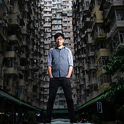 NG Ka-Leung, the main director of Hong Kong's controversial film 'Ten Years', poses for a portrait at a Hong Kong housing estate.