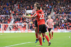 March 16, 2019 - Sunderland, Tyne and Wear, United Kingdom - Sunderland's Will Grigg celebrates scoring his side's second goal  during the Sky Bet League 1 match between Sunderland and Walsall at the Stadium Of Light, Sunderland on Saturday 16th March 2019. (Credit: Steven Hadlow   MI News) (Credit Image: © Mi News/NurPhoto via ZUMA Press)