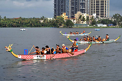 June 11, 2017 - Kolkata, West Bengal, India - Chinese people participate in Dragon Boat Festival on June 11, 2017 in Kolkata. The festival occurs on the 5th day of the 5th month of the traditional Chinese calendar. (Credit Image: © Saikat Paul/Pacific Press via ZUMA Wire)
