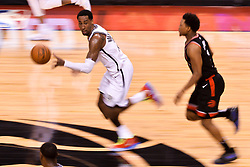 February 11, 2019 - Toronto, Ontario, Canada - Rondae Hollis-Jefferson #24 of the Brooklyn Nets runs out with the ball during the Toronto Raptors vs Brooklyn Nets NBA regular season game at Scotiabank Arena on February 11, 2019, in Toronto, Canada (Toronto Raptors win 127-125) (Credit Image: © Anatoliy Cherkasov/NurPhoto via ZUMA Press)