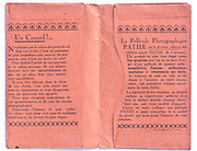 inside of a vintage Pathé film and prints envelope 1910s France