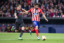 May 3, 2018 - Madrid, Spain - Atletico de Madrid Diego Costa and Arsenal FC Hector Bellerin during Europa League Semi Finals Second Leg match between Atletico de Madrid and Arsenal FC at Wanda Metropolitano in Madrid, Spain. May 03, 2018. (Credit Image: © Coolmedia/NurPhoto via ZUMA Press)
