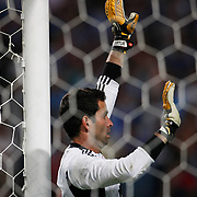Benfica's goalkeeper ARTUR during their UEFA Champions League third qualifying round, second leg, soccer match Trabzonspor between Benfica at the Ataturk Olimpiyat Stadium at İstanbul Turkey on Wednesday, 03 August 2011. Photo by TURKPIX