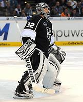 Ishockey<br /> NHL USA<br /> 04.10.2011<br /> Foto: Witters/Digitalsport<br /> NORWAY ONLY<br /> <br /> Torwart Jonathan Quick (Kings) <br /> <br /> Eishockey, Compuware NHL Challenge, Hamburg Freezers - Los Angeles Kings