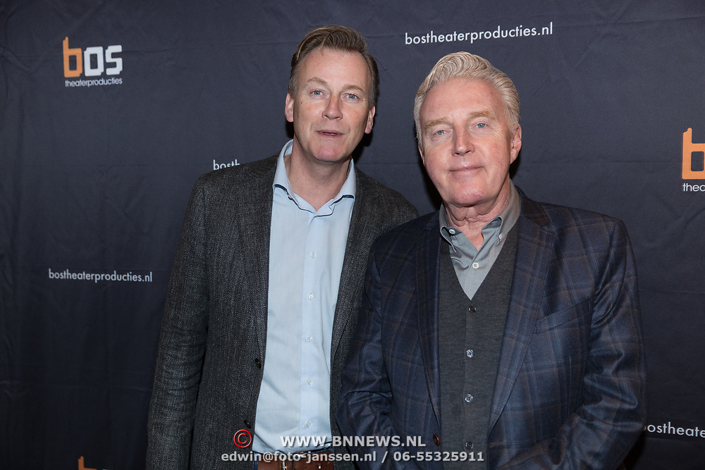 NLD/Amsterdam/20180222 - Premiere Vele Hemels boven de Zevende, Andre van Duin en partner Martin Elfrink