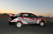 Simon EVANS & Sue EVANS.Mitsubishi  Lancer IX.Motorsport-Rally/2009 Forest Rally .Super Special.3rd of April 2009.Busselton Foreshore, Busselton, Western Australia.(C) Joel Strickland Photographics