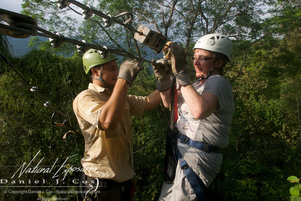 Heather, zip lining, Costa Rica