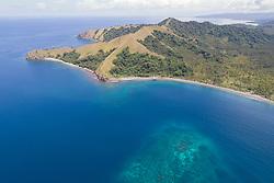 Luftaufnahme von Tompotika Resort, Tompotika Resort, Zentral Sulawesi, Indonesien, Molukkensee / Aerial View of Tompotika Dive Lodge, Central Sulawesi, Indonesia, Molucca Sea