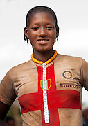 The football stars of tomorrow<br /> <br /> Thousands of Football shirts of Arsenal, Manchester, Chelsea, Milano, etc end up their carreer in... Ethiopia. Sold in the deep south, in the Omo Valley, those second hand clothes are bought by the local tribes. Most of them ignore the meaning of those shirts, and just buy them for the color, the logo, or the shape.<br /> No warrior will go out without his little pillow/seat.<br /> Some, like in Hamer tribe wear at the top of the head a clay helmet where they can put some ostrich feathers when they make a special action, like killing a wild animal, or...a man.<br /> Those tribes won't exist in few years as the ethiopian governement has launched a huge plan to develop the area.<br /> Soon, a highway coming from Mombassa - Nairobi will pass thru the villages to reach Addis Ababa.<br /> <br /> Photo shows: Darashe tribe - Inter Milan<br /> ©Eric Lafforgue/Exclusivepix Media