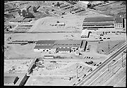 """Ackroyd 00071-112. """"Sandberg Manufacturing Co. Aerial. July 9, 1947"""" (Sandberg Manufacturing Co. 3850 NW Yeon ORBC Oregon Beverage Recycling Cooperative Convoy Co. 3900 NW Yeon DEQ site ID 4015)(Sandberg Manufacturing Co. 3850 NW Yeon ORBC Oregon Beverage Recycling Cooperative Convoy Co. 3900 NW Yeon DEQ site ID 4015)"""