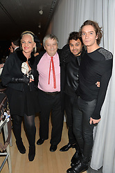 Left to right, AMANDA ELIASCH, SIR NORMAN ROSENTHAL, PABLO GANGULI and TOMAS AUKSAS at the Liberatum Cultural Honour For Sir Terence Conran Dinner held at the Sanderson Hotel, Berners Street, London on 19th November 2013.