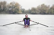 """Putney. London. GREAT BRITAIN;  NED LM1X. Frans GOEBEL. <br /> <br /> 1995 Thames World Sculling Championships, Putney to Mortlake. Championship Course, River Thames.<br /> <br /> [Mandatory Credit; """"Photo, Peter Spurrier/Intersport-images]"""