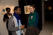 MO NINALOWO; BOLAJI EKUN; ELIZABETH JAGGER. Elaine Ferguson. ' Texas Blues'. Scream Gallery. Bruton St. London. 11 December 2008 *** Local Caption *** -DO NOT ARCHIVE -Copyright Photograph by Dafydd Jones. 248 Clapham Rd. London SW9 0PZ. Tel 0207 820 0771. www.dafjones.com<br /> MO NINALOWO; BOLAJI EKUN; ELIZABETH JAGGER. Elaine Ferguson. ' Texas Blues'. Scream Gallery. Bruton St. London. 11 December 2008