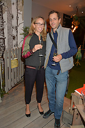 HENRY & TARA LANE FOX at a Fondue evening hosted by Rose van Cutsem and her brother Tom Astor to celebrate the new ski Season with leading ski resort Meribel, Besson Clothing and ESF ski schools at Maggie & Rose, 58 Pembroke Road, London on 7th November 2016.