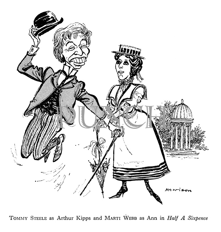 Half a Sixpence: Tommy Steele as Arthur Kipps and Marti Webb as Ann