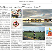"""Tearsheet of """"Waterford food scene"""" published in The New York Times"""