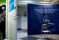 Bialystok, 27.12.2020. Pierwsze w wojewodztwie podlaskim szczepienie personelu medycznego przeciwko COVID-19 w Szpitalu MSWiA. N/z punkt szczepien fot Michal Kosc / AGENCJA WSCHOD
