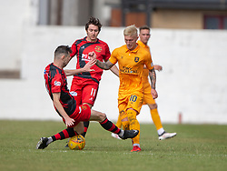 Annan Athletic's David Wilson and Livingston Craig Sibbald. Livingston 1 v 0 Annan Athletic, Scottish League Cup Group F, played 21/7/2018 at Prestonfield, Linlithgow.