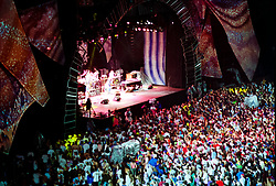 The Grateful Dead Live in Concert at Giants Stadium June 17, 1991. Full Set, Lights and Stage Design Capture Image.