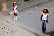Woman and girl in Gibara,Holguin,Cuba.
