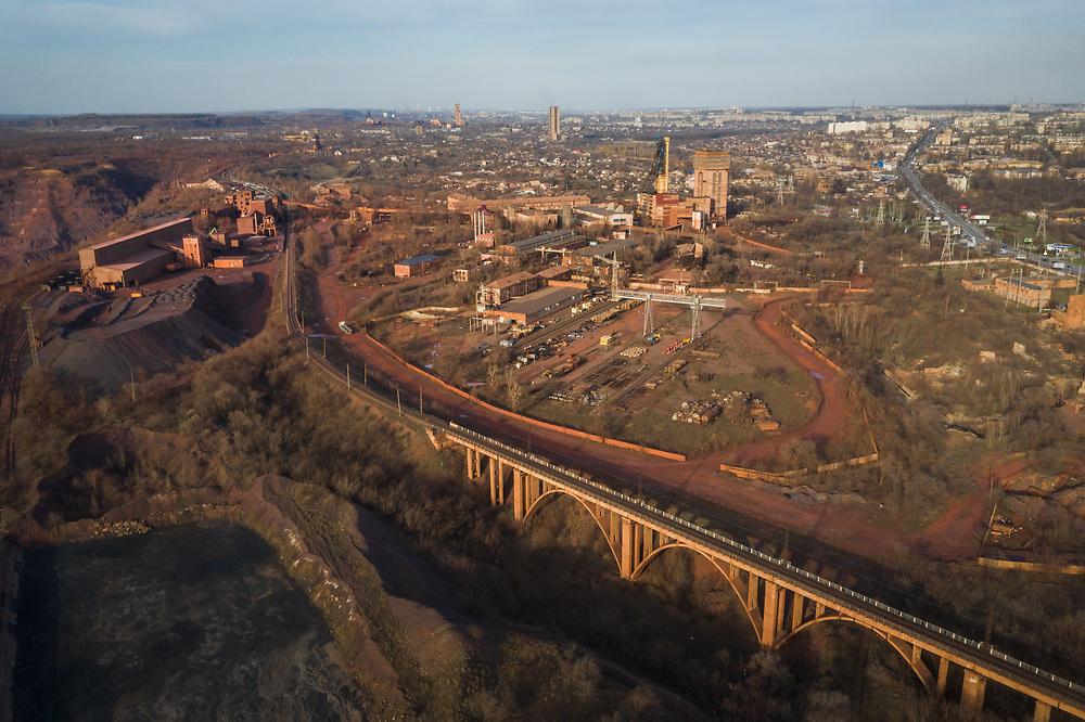 Steel mining industry of Kryvyi Rig, Ukraine