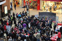 Bristol City fans arrive at Cabot Circus - Photo mandatory by-line: Dougie Allward/JMP - Mobile: 07966 386802 - 11/03/2015 - SPORT - Football - Bristol - Cabot Circus Shopping Centre - Johnstone's Paint Trophy