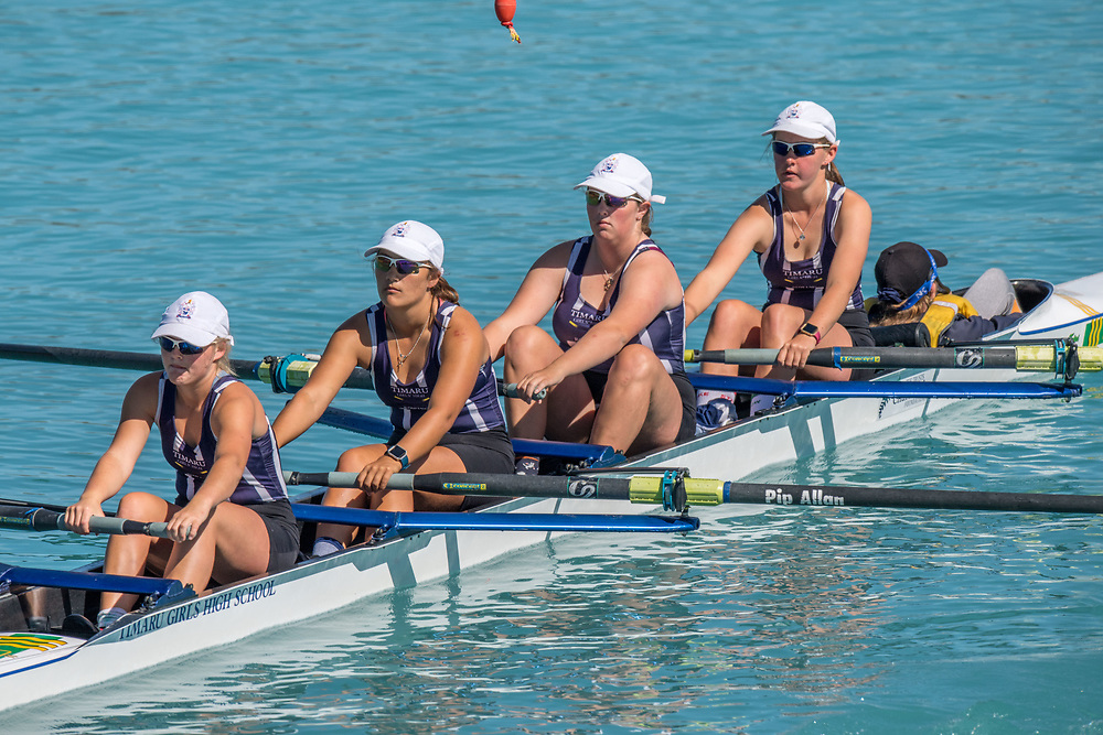 Rowers compete at the SISSC on Lake Ruataniwha, Twizel, Saturday 9 March 2019.<br /> <br /> © Copyright photo Steve McArthur / @RowingCelebration   www.rowingcelebration.com