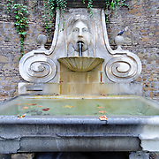 ROME, Italy - Old water fountain in Rome, Italy