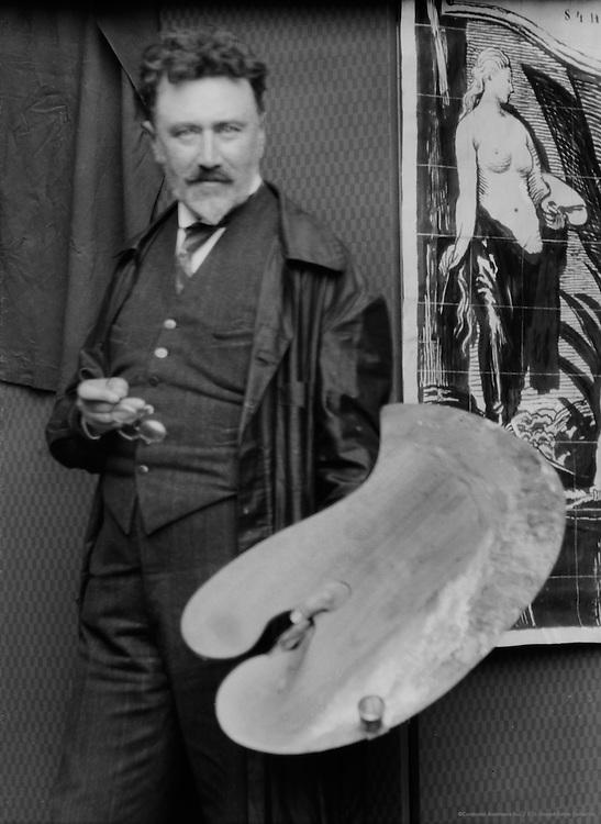 Max Svabinsky, painter, 1925