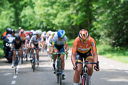 Chantal Blaak attacks forcing others to chase as the front group gets whittled down at Boels Hills Classic 2016. A 131km road race from Sittard to Berg en Terblijt, Netherlands on 27th May 2016.