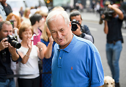 © Licensed to London News Pictures. 18/07/2018. London, UK. Radio and television presenter PAUL GAMBACCINI arrives at the Rolls Building of the High Court in London where judges will deliver their decision on a claim by Sir Cliff Richard for damages against the BBC for loss of earnings. The 77-year-old singer is suing the corporation after his home in Sunningdale, Berkshire was raided following allegations of sexual assault made to Metropolitan Police. Photo credit: Ben Cawthra/LNP