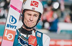 15.02.2020, Kulm, Bad Mitterndorf, AUT, FIS Ski Flug Weltcup, Kulm, Herren, im Bild Daniel Andre Tande (NOR) // Daniel Andre Tande of Norway during his Jump for the men's FIS Ski Flying World Cup at the Kulm in Bad Mitterndorf, Austria on 2020/02/15. EXPA Pictures © 2020, PhotoCredit: EXPA/ JFK