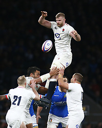 March 9, 2019 - London, England, United Kingdom - London, ENGLAND, 9th March .George Kruis of England.during the Guinness 6 Nations Rugby match between England and Italy at Twickenham  stadium in Twickenham  England on 9th March 2019. (Credit Image: © Action Foto Sport/NurPhoto via ZUMA Press)