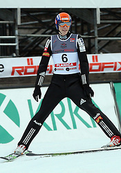 Jurij Tepes of Slovenia at e.on Ruhrgas FIS World Cup Ski Jumping on K215 ski flying hill, on March 14, 2008 in Planica, Slovenia . (Photo by Vid Ponikvar / Sportal Images)./ Sportida)