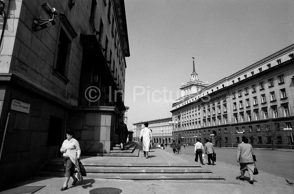 9th September Place. Sophia, Bulgaria. April 1989