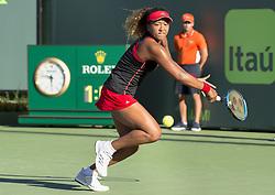 March 21, 2018 - Miami, FL, United States - Miami, FL - March, 21: Naomi Osaka (JPN) in action here defeats Serena Williams (USA) 63 62 at the 2017 Miami Open held at the Tennis Center at Crandon Park.   Credit: Andrew Patron/Zuma Wire (Credit Image: © Andrew Patron via ZUMA Wire)