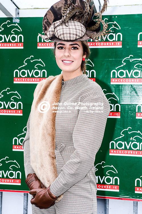 Niamh Rispin from Bohermeen, Navan, was the winner of €1600 worth of vouchers for Navan Town Centre for the Best Dressed Lady  at Navan races 'Ladbrokes Troytown Chase & Ladies Day'  at Navan races 'Ladbrokes Troytown Chase & Ladies Day'.<br /> <br /> Photo: GERRY SHANAHAN-WWW.QUIRKE.IE<br /> <br /> 24-11-2019