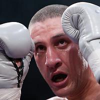 19 November 2009: Light heavyweight Karim Benama during the Grand Tournoi boxing semi finals event at Cirque d'Hiver in Paris, France.