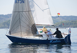 Sailing - SCOTLAND  - 25th May 2018<br /> <br /> Opening days racing the Scottish Series 2018, organised by the  Clyde Cruising Club, with racing on Loch Fyne from 25th-28th May 2018<br /> <br /> GBR8173N, Kalm, Steven Lyon, Cove, Sonata OD<br /> <br /> Credit : Marc Turner<br /> <br /> Event is supported by Helly Hansen, Luddon, Silvers Marine, Tunnocks, Hempel and Argyll & Bute Council along with Bowmore, The Botanist and The Botanist