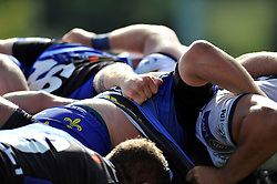 A general view of a scrum after the match - Photo mandatory by-line: Patrick Khachfe/JMP - Mobile: 07966 386802 17/08/2014 - SPORT - RUGBY UNION - Bristol - Clifton Rugby Club - Bristol Rugby v Newport Gwent Dragons - Pre-Season Friendly