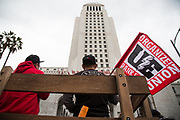 May Day March took a place from McArthur Park to Los Angeles City Hall on Tuesday, May 1st, 2018 in Los Angeles, California.