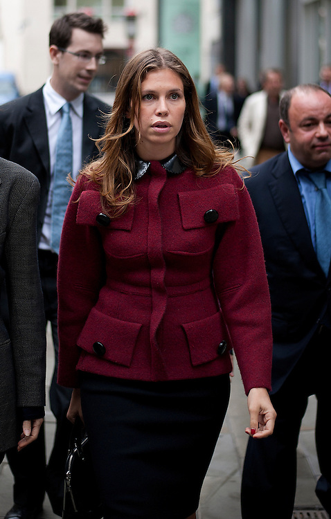 Dasha Zhukova (r)at lunchtimeThe High Court on October 13, 2011 in London, England. Mr Berezovsky is alleging a breach of contract over business deals with fellow Russian and Chelsea Football Club owner Roman Abramovich and is claiming more than £3.2bn in damages..