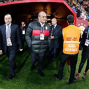 Galatasaray's Abdurrahman Albayrak (C) during their Turkish Super League soccer match Galatasaray between Istanbul Basaksehir at the AliSamiYen Spor Kompleksi TT Arena at Seyrantepe in Istanbul Turkey on Saturday, 14 March 2015. Photo by Aykut AKICI/TURKPIX