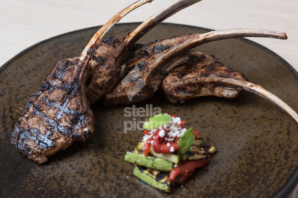 Lamb Cutlets, at Meraki as part of Evening Standard restaurant review.<br /> Picture by Daniel Hambury/Stella Pictures Ltd 07813022858<br /> 10/07/2017