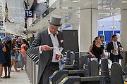 MARQUESS OF WORCESTER, Royal Ascot racegoers at Waterloo station. London. 20 June 2013.