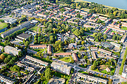 Nederland, Zuid-Holland, Rotterdam, 28-09-2014; Rozenburg.  Immanuel kerk. Deelgemeente van Rotterdam, voormalig dorp, ingeklemd door de industrie van van het Botlekgebied en Europoort.<br /> Municipality of Rotterdam, a former village, sandwiched by the industry of the Botlek and Europoort.<br /> luchtfoto (toeslag op standard tarieven);<br /> aerial photo (additional fee required);<br /> copyright foto/photo Siebe Swart