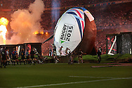 Opening ceremony during the Rugby World Cup Pool A match between England and Fiji at Twickenham, Richmond, United Kingdom on 18 September 2015. Photo by Matthew Redman.