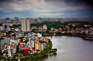 View of Truc Bach Lake from the Summit Lounge of the Sofitel Plaza, Hanoi, Vietnam.