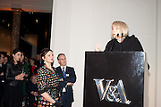 RACHEL STIRLING; PAUL RUDDOCK;  DAME DIANA RIGG;, Cecil Beaton private view. V and A Museum. London. 6 February 2012